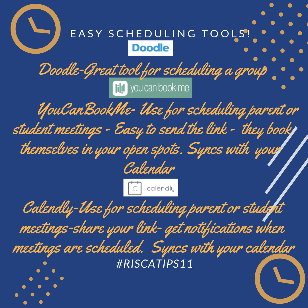 Riscatips11 Easy Scheduling Tools
