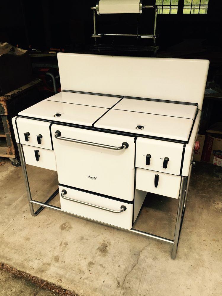 rare machine age art deco magic chef stove oven designed by norman bel geddes