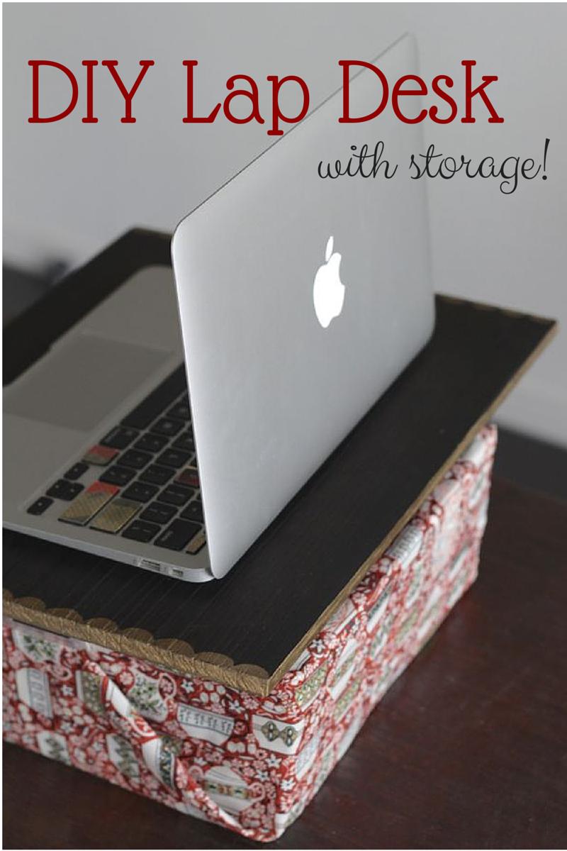 Diy lap desk with storage lap desk desks and storage for Diy desk stuff