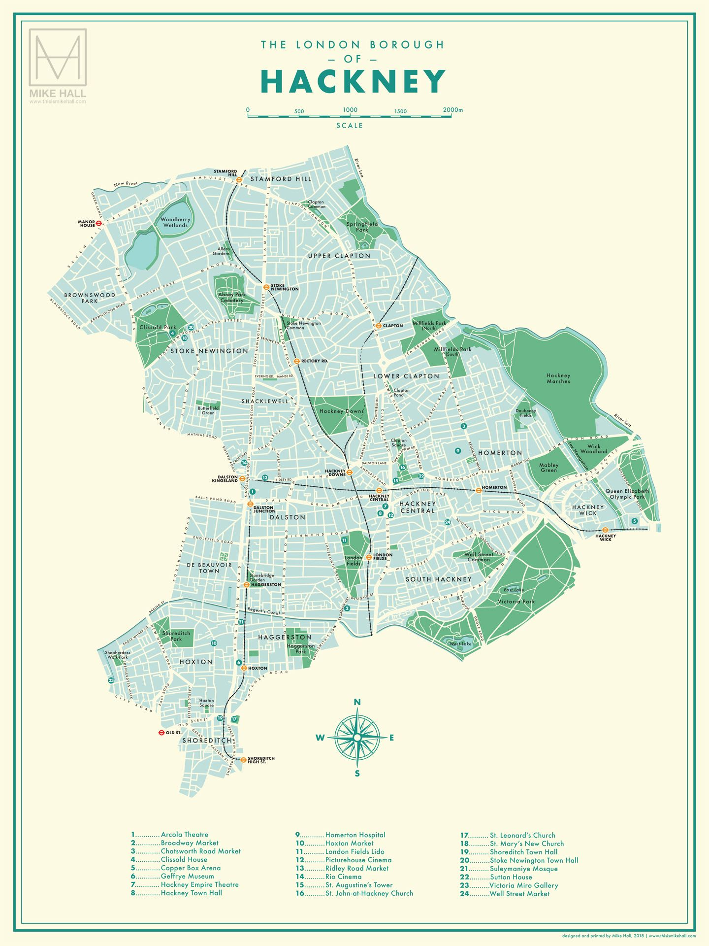 Concept Design A Map Of The London Borough Of Hackney On Behance