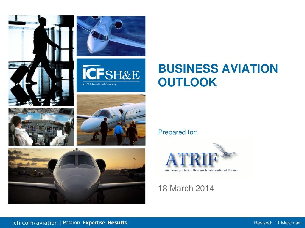 Business Aviation Outlook by REYYAN DEMIR via slideshare