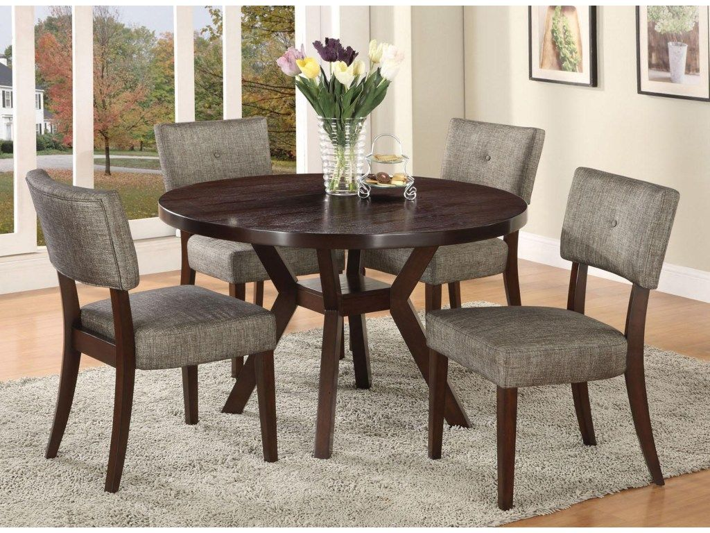Acme Furniture Drake Espresso 5 Piece Modern Dining Set Prepossessing Espresso Dining Room Table Sets Design Decoration
