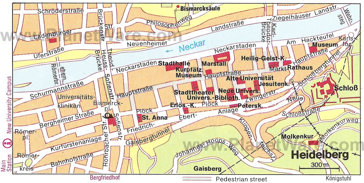 heidelberg map tourist attractions