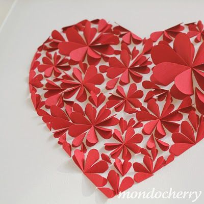 Paper hearts  #crafts #paper
