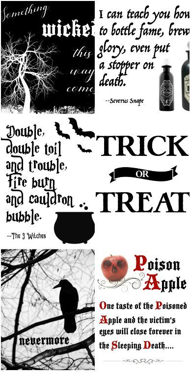 Free Black And White Halloween Printables Printable Files With Quotes From Snow White Labyrinth Har Halloween Printables Free Halloween Printables Halloween