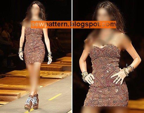 Sew Pattern باترون مفصل لفستان قصير وضيق مقاس 36 56 Short Dress Patterns Peplum Dress Fashion