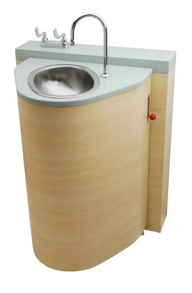 Small Bathroom Waste Bins: Floor Waste Outlet, Fixed Toilet With Pivoting Oval