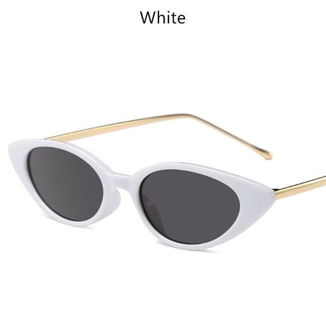 4b060746ea YOOSKE Women Small Cat Eye Sunglasses Classic brand Designer Oval Metal  Frame Sun Glasses For Female