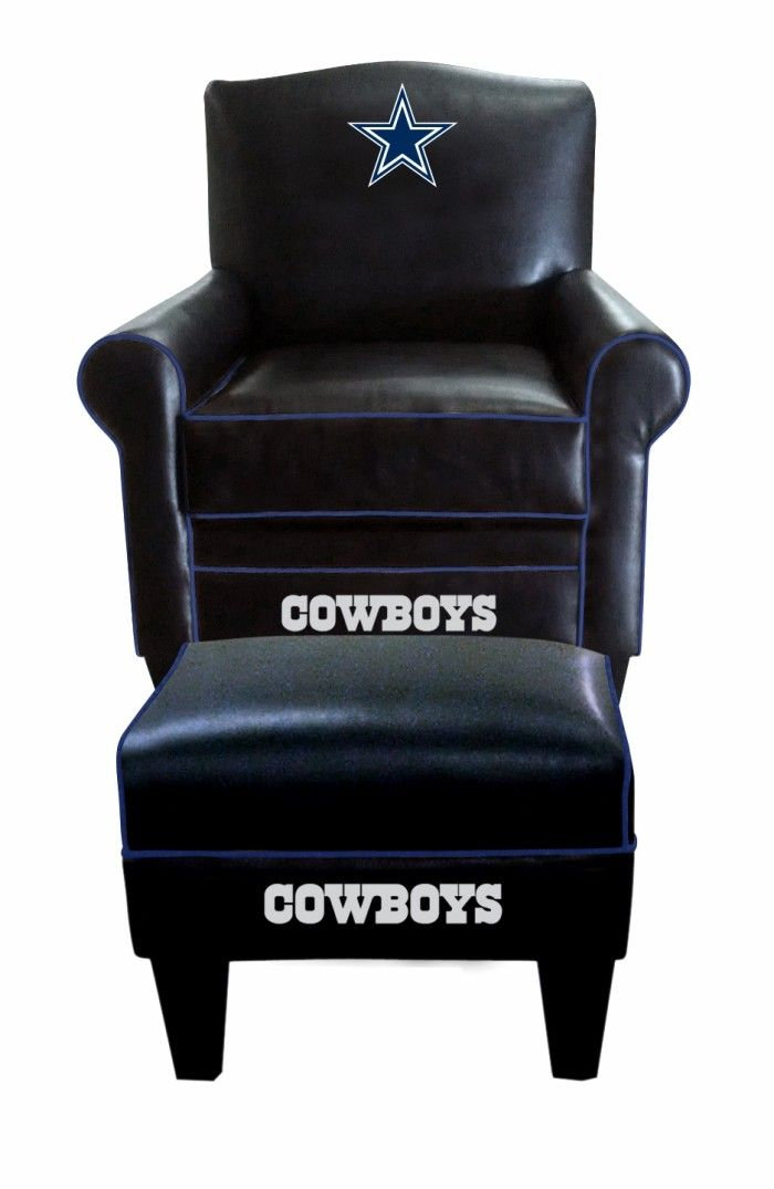Dallas Cowboys Nfl Game Time Chair Ottoman Footstool Furniture