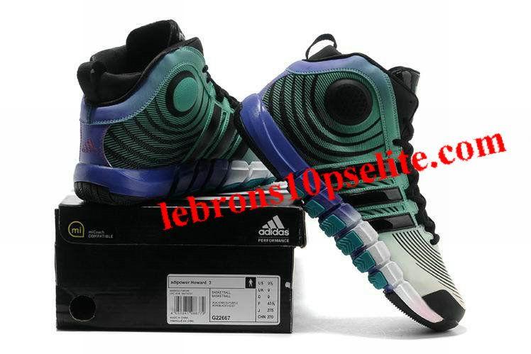 the latest 59b37 3e20f Adidas adiPower Howard 3 Dwight Howard Shoes JadeWhitePurple