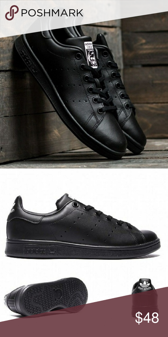 Adidas Stan Smith Black Lace Sneakers