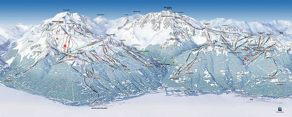 Ski map Paradiski Places Ive been to Pinterest