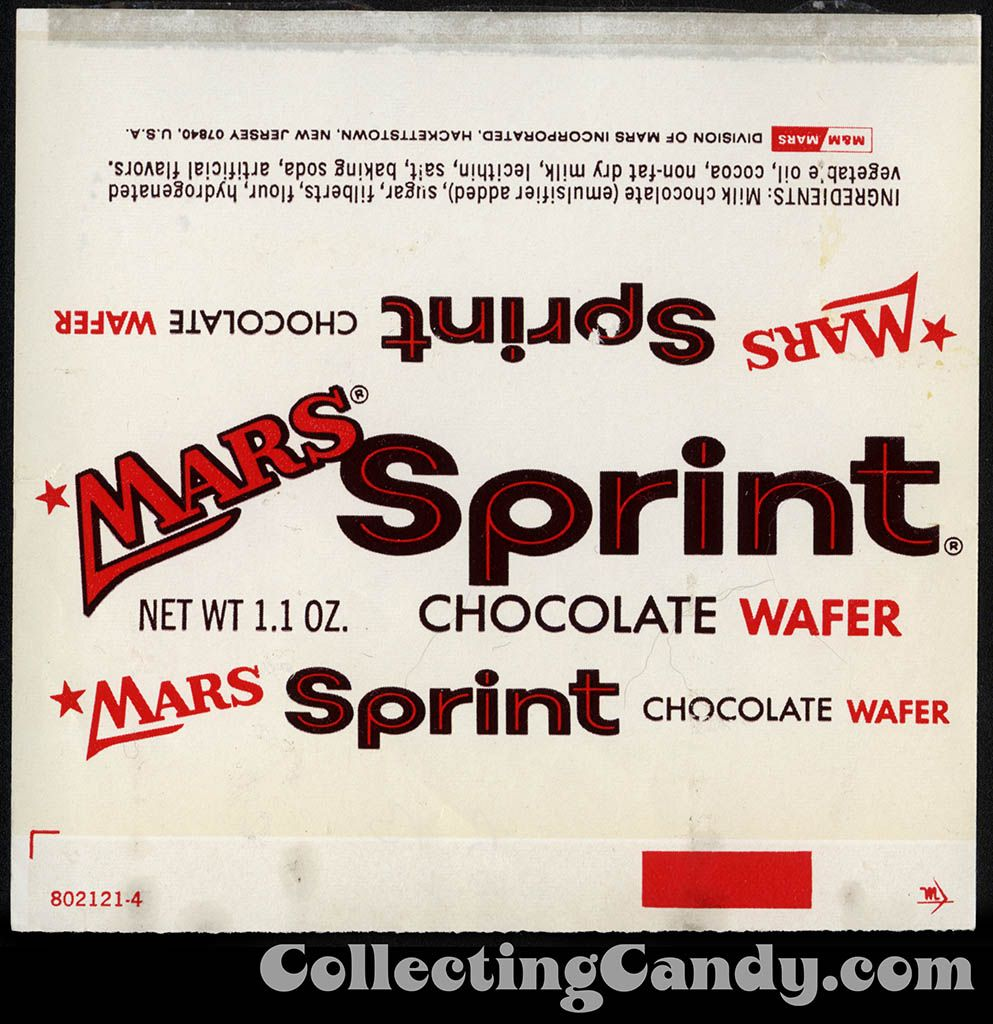 Mars - Sprint chocolate wafer wrapper-1970's
