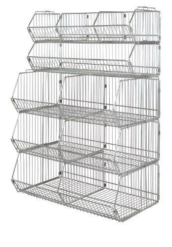 Quantum Storage Systems 203612bc Modular Stacking Basket Chrome Finish 20 Width X 36 Length X 12 Height By Quantum Wire Shelving Storage Inventory Storage
