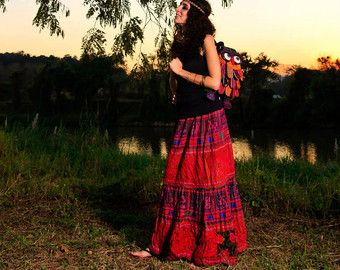 therapist in indian skirts