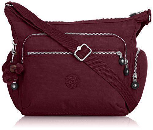 Kipling Womens Gabbie Shoulder Bag Crimson S Co