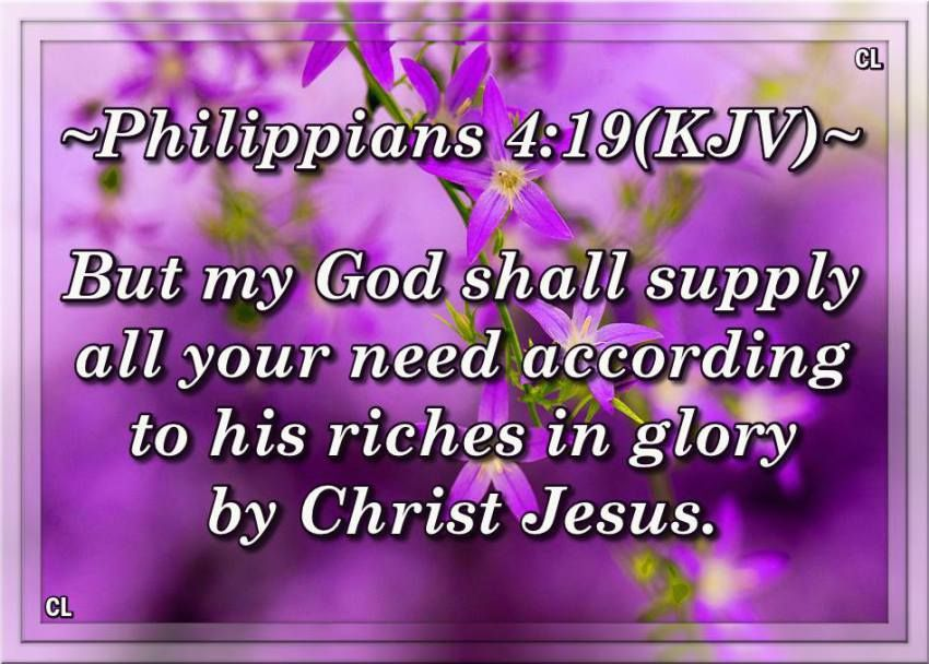 Philippians 4 19 20 Kjv And More Sisters In Christ King