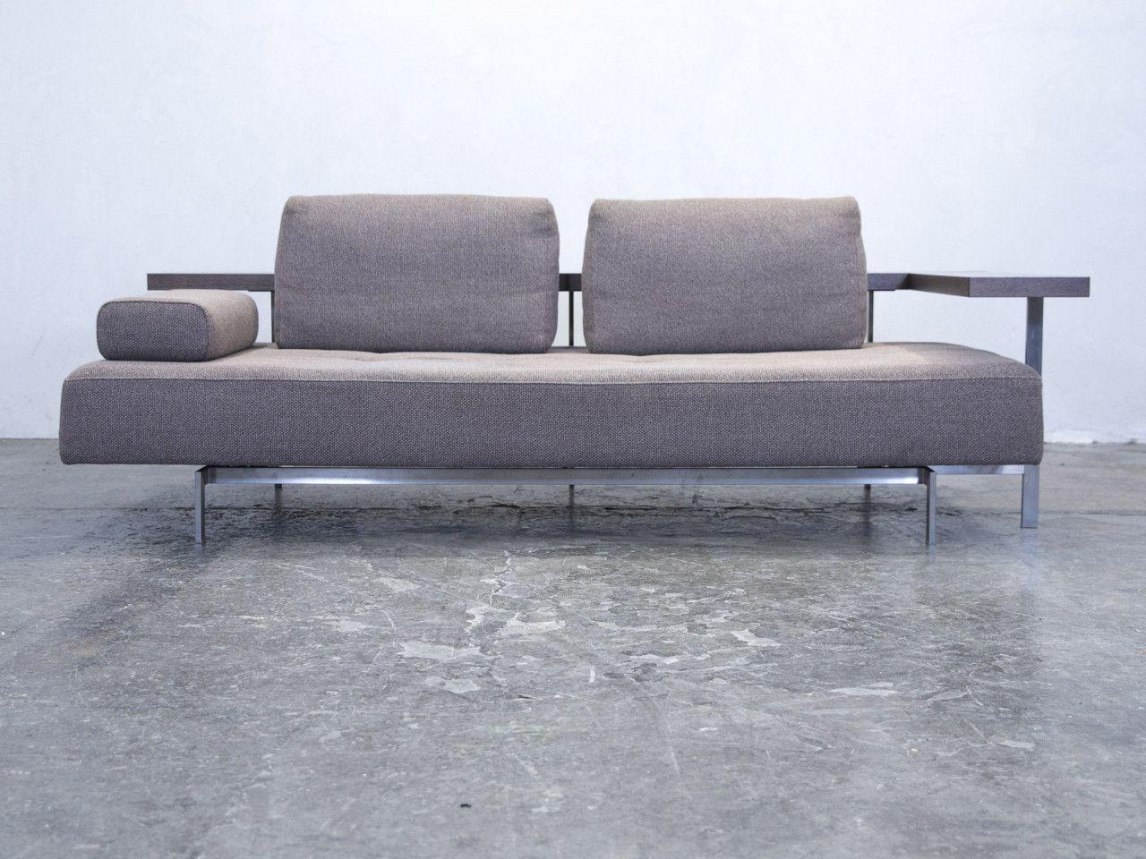 Rolf Benz Dono 6100 Designer Sofa Grau Stoff Zweisitzer Funktion Couch  Modern Strukturstoff #3726