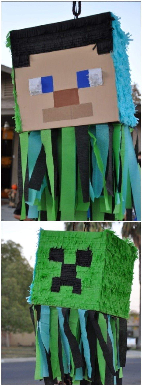 Pin By Schnittverhext On Ruegers Minecraft Party Crafts For Boys Birthday Party Crafts Minecraft Birthday