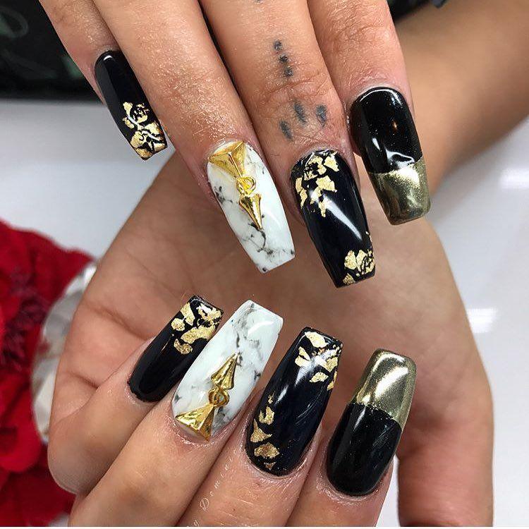 10 Perfect Marble Nail Art - Elegant Look On Nails | Pinterest ...