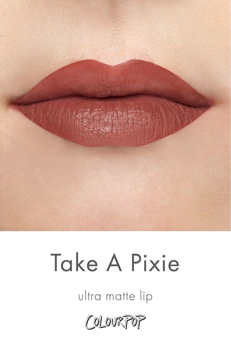 cceef20ec Take a Pixie dusty beige Ultra Matte lipstick swatch on fair skin ...