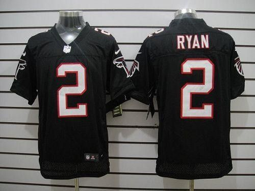 Nike Atlanta Falcons #2 Matt Ryan Black Alternate Men's Stitched NFL Elite Jersey