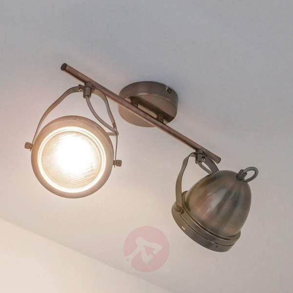 2 Bulb Sascha Led Spotlight Antique Copper Ceiling Lights 9620229 30