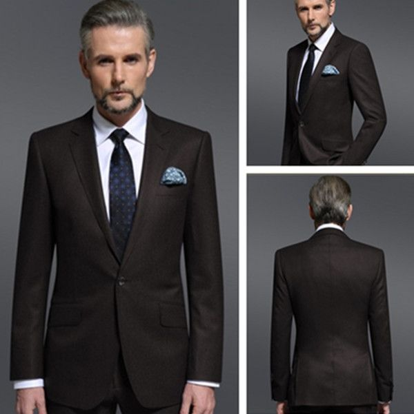 Fashion-dark-brown-business-suits-for-men-tailored.jpg (600×601 ...