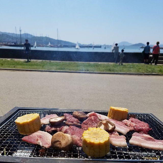 ばーべきゅー! #ゴールデンウィーク ですが明日から仕事です。 #GW#BBQ#肉#ヨット#海
