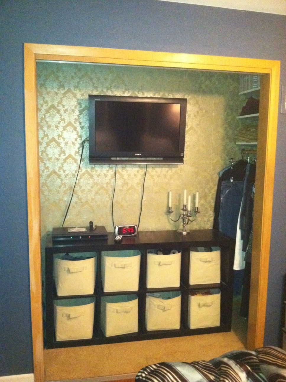 Master Bedroom Nook Ideas transforming our closet to a tv nook | diy projects | pinterest
