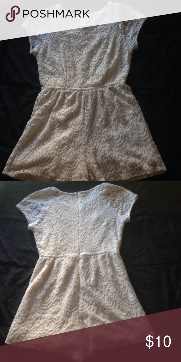 7cf59b4e62d1 Monteau Lace Romper Junior Used but rarely worn. Size M. The size is a  little on the small side though. No stains and no rips. Monteau Other