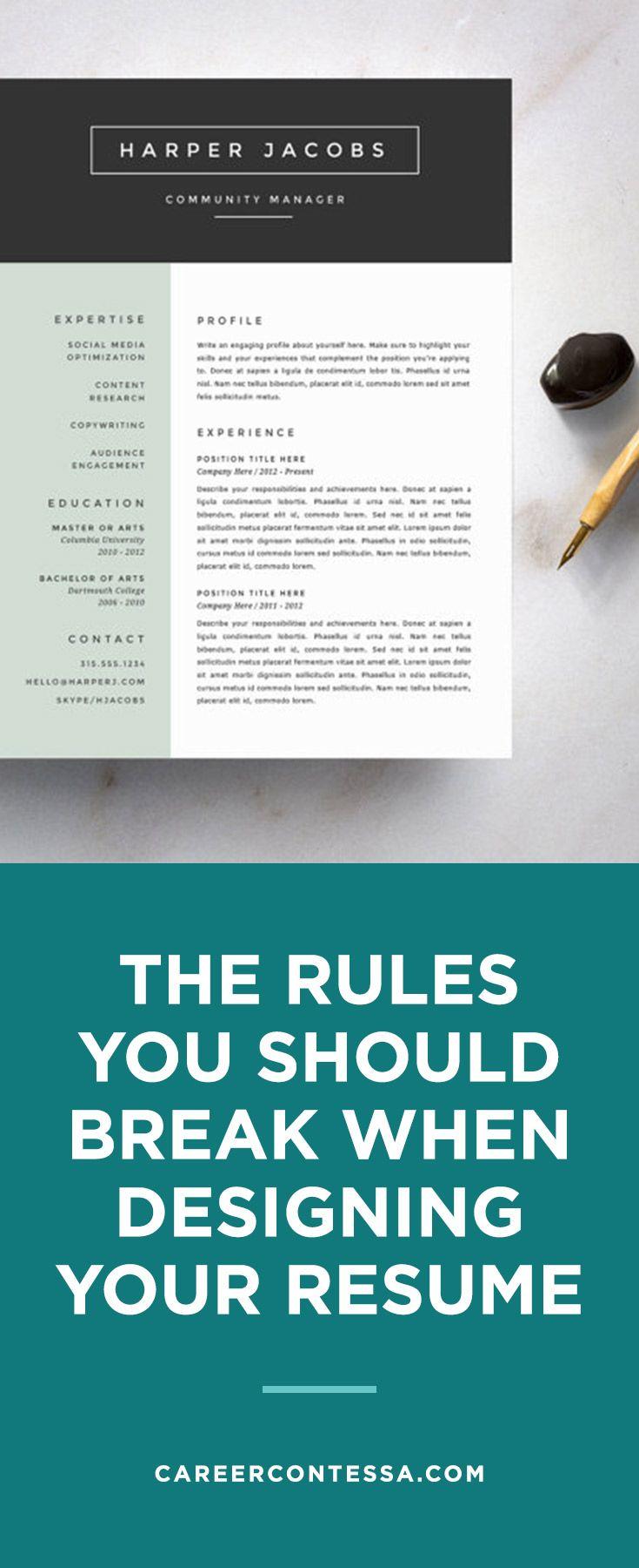 work resume rules