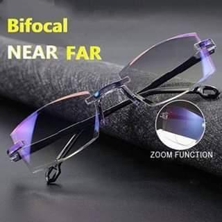 Sapphire High Hardness Anti-Blue Progressive Far And Near Dual-Use Reading Glasses