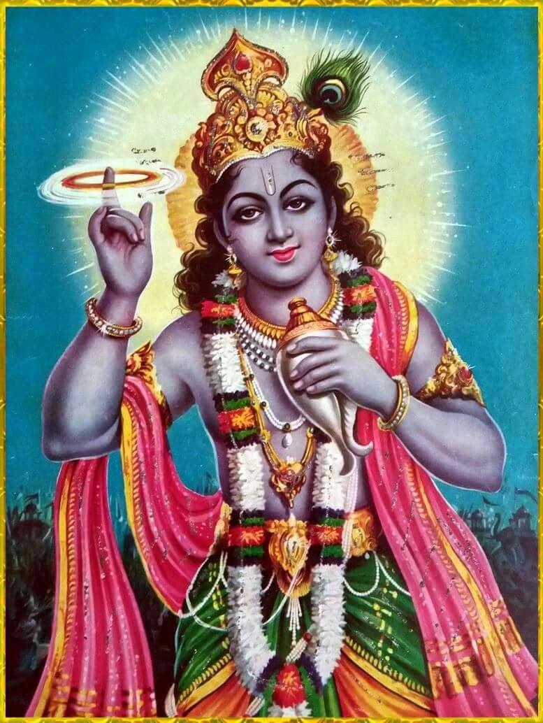 Sudarshan Chakra Dhari Krishn Hindu God B Krishna Lord Vishnu
