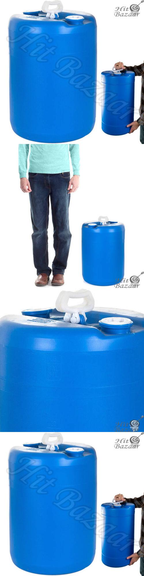 water storage and rain barrels emergency water storage barrel 15 gallon portable survival household - Water Storage Barrels