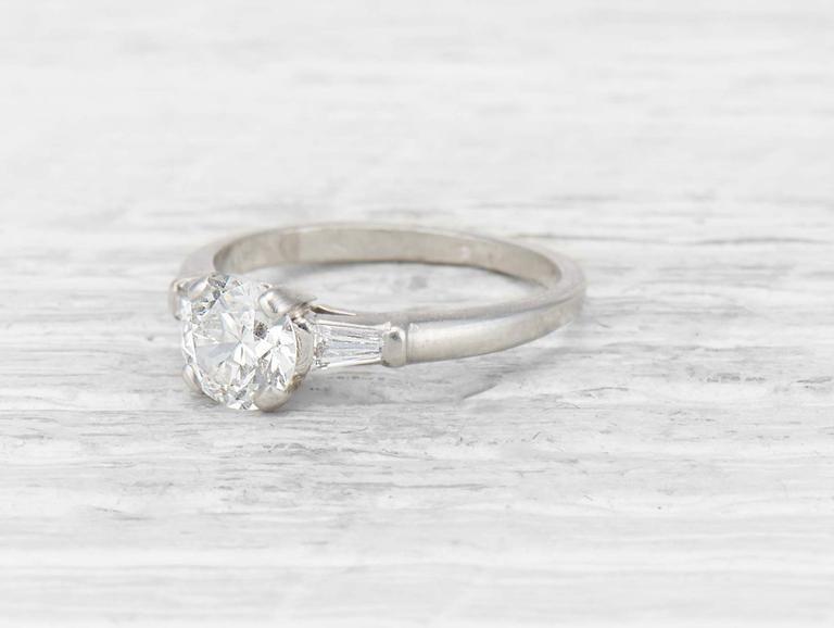 6ad8ad0e3532 .90 Carat Art Deco Tiffany   Co. Diamond Engagement ring Anillos De  Compromiso De