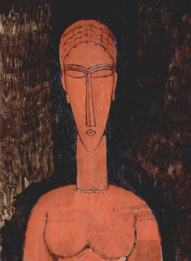 Amedeo Modigliani buste rouge 1913