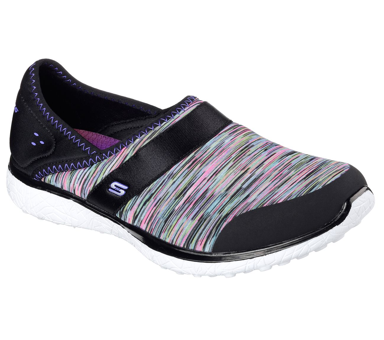 696ea16b Do amazing things in sporty style and lavish comfort with the SKECHERS  Microburst - Greatness shoe. Soft heathered jersey knit fabric and neoprene  fabric ...