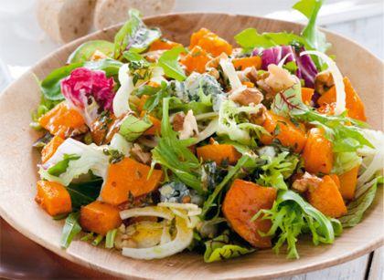 Recept voor salade met geroosterde pompoen en venkel