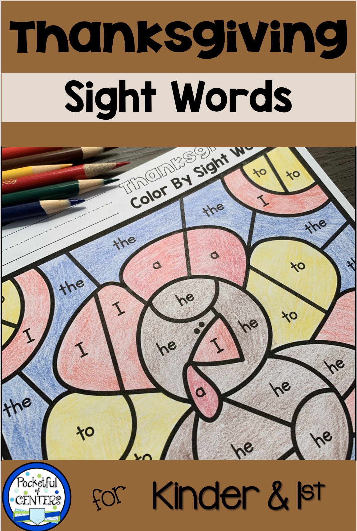 Thanksgiving Color By Code Sight Words