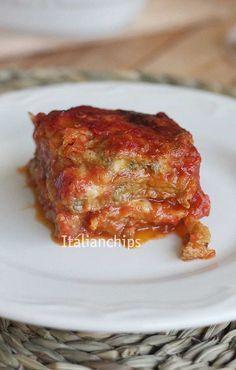 melanzane al forno - parmigiana senza fritture