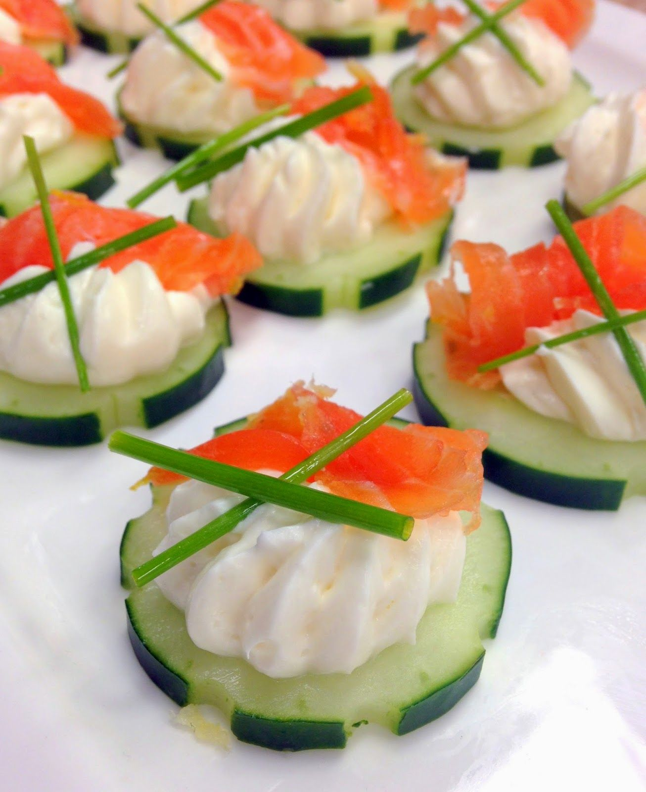 Easy Holiday Appetizer Salmon Cucumber Canap S (*Rook No 17