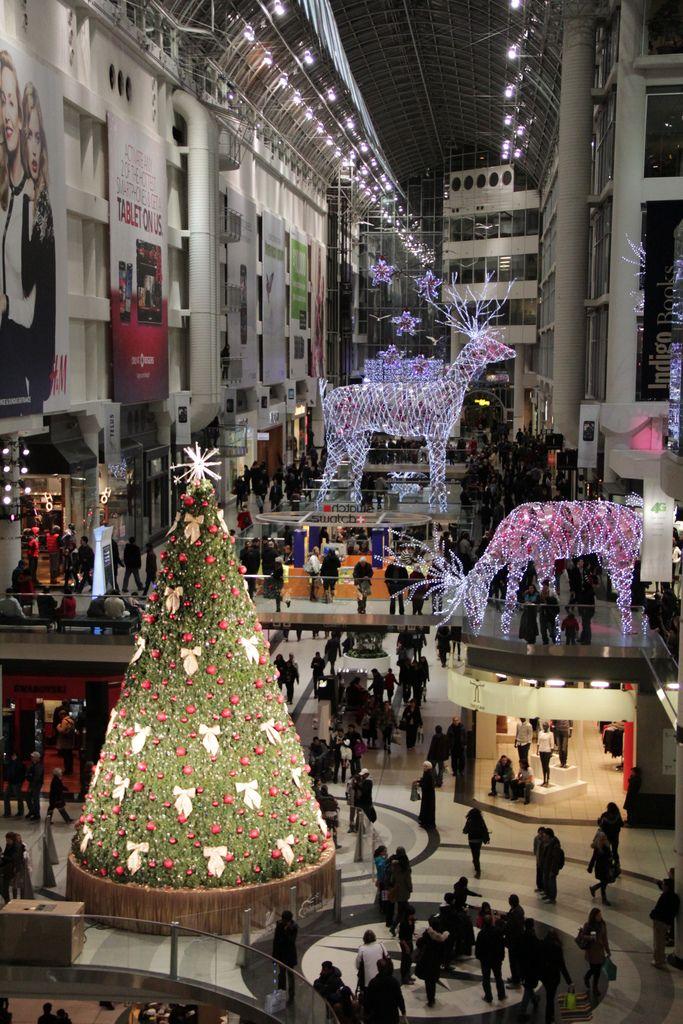 At The Eaton Centre Eaton Centre Christmas Lights Toronto Ontario Canada