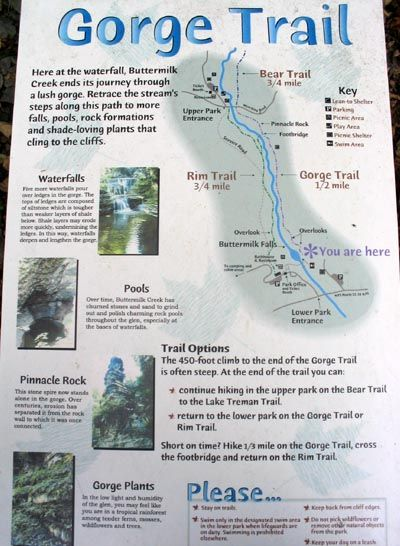 Gorge Trail Map Buttermilk Falls State Park Ithaca New York