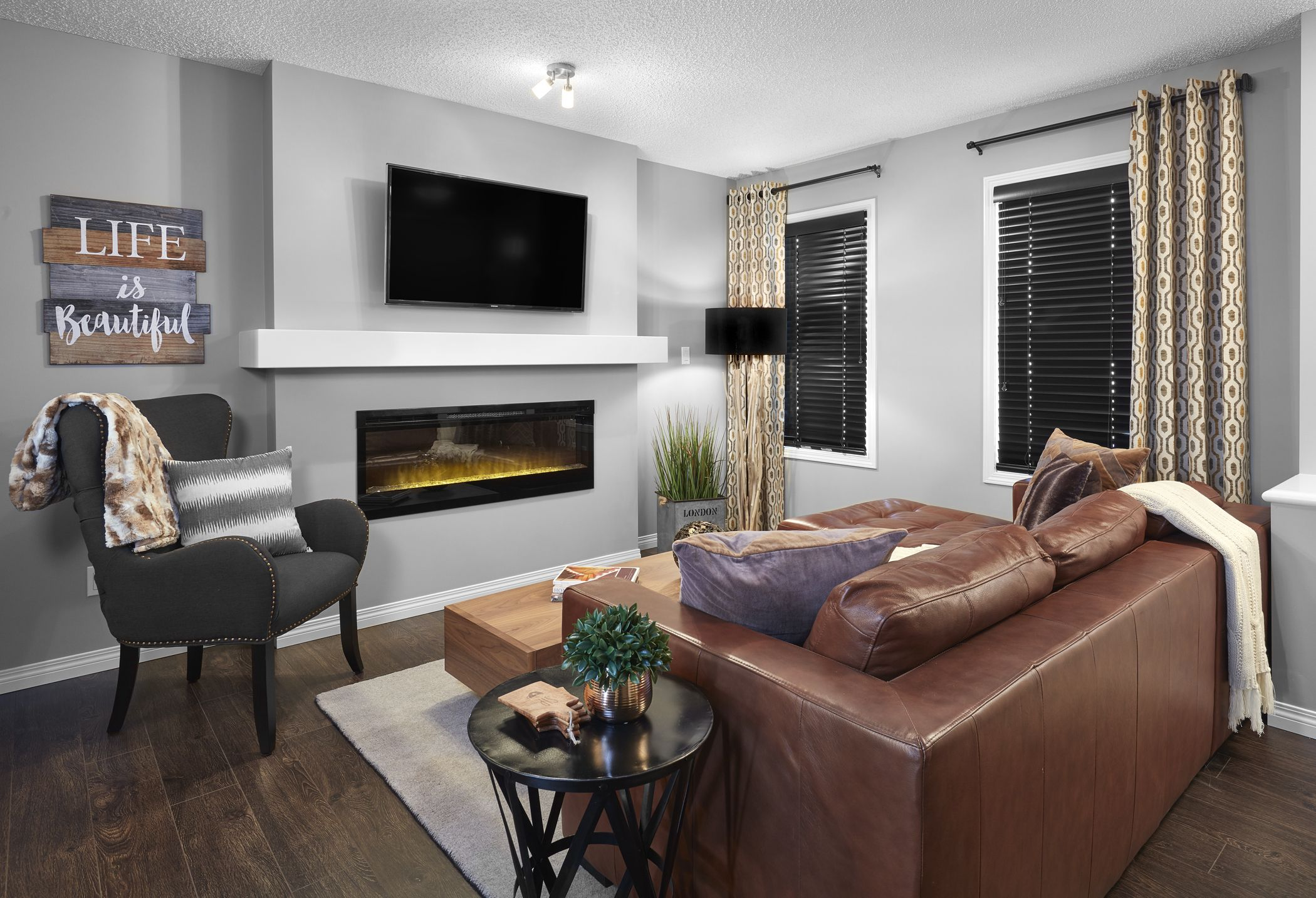 A Relaxing Living Room In Our New Avanti Town House Show Home