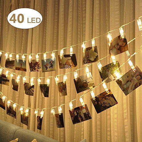 Weihnachtsbeleuchtung Lichterketten Led.40 Led Foto Clips Lichterketten Stimmungsbeleuchtung Dekoration