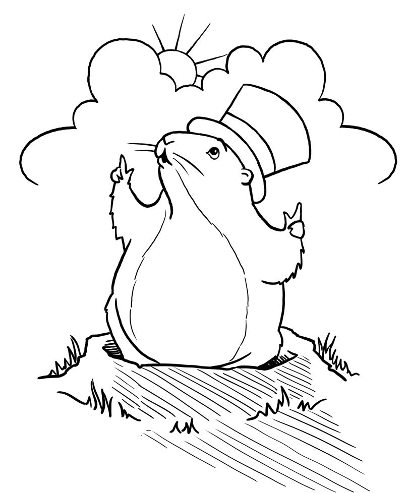 Groundhog Coloring Pages | Coloring Pages | Pinterest | Classroom ...