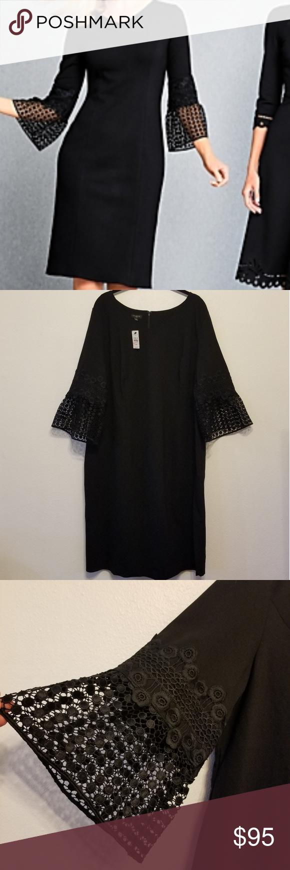 Talbots Black Lace Flounce Ponte Knit Dress Ponte Knit Dress Ponte Knit Talbots Dress [ 1740 x 580 Pixel ]