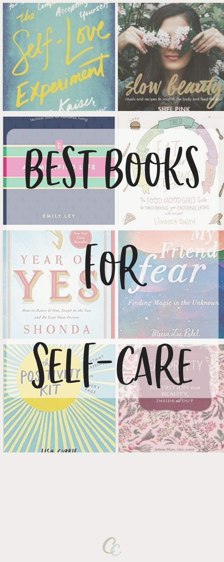 The Best Books for SelfCare is part of Best self help books, Books for self improvement, Self love books, Good books, Positive books, Self help books - Sometimes, there's no greater comfort than curling up with a book that you know is going to help you feel refreshed and reinspired  We've rounded up our favourite books that deserve to become a staple on your shelf for whenever you have a few moments to focus on you  A Simplified Life Tactical Tools for Intentional LivingEmily Ley is all about working to simplify your life so that you can intentionally focus on the things that truly matter  In this book, Emily provides simple systems and tools to help you prioritize what really matters and clear out what doesn't  The book provides tips for all areas of your life, including meal planning, home, style, finances, and more  Eat Your Feelings The Food Mood Girl's Guide to Transforming Your Emotional EatingEat Your Feelings is all about listening to your body and nourishing your being  Lindsey embraces the things we most crave when we're stressed  salty, sweet, crunchy, cheesy, and more  and remakes them so that contain moodboosting ingredients that will help you feel better even long after you eat  What we love most is the underlying tone that focuses on being kind to yourself  Slow Beauty Rituals and Recipes to Nourish the Body and Feed the SoulIf mindfulness, bubble baths, and face masks are your version of selfcare, this book is for you! The book is filled with ideas for breathing exercises, meditations, and how to create your own mantra  There are also plenty of recipes for homemade scrubs and body oils, as well as nourishing teas, soups, juices, and smoothies  Now is Your Chance A 30Day Guide to Living Your Happiest Life Using Positive PsychologyNiyc Pidgeon is a Positive Psychologist who is sharing a 30day guide to help women embrace a happier lifestyle  The book provides coaching and ideas in a voice that is authentic and inspiring  My Friend Fear Finding Magic in 