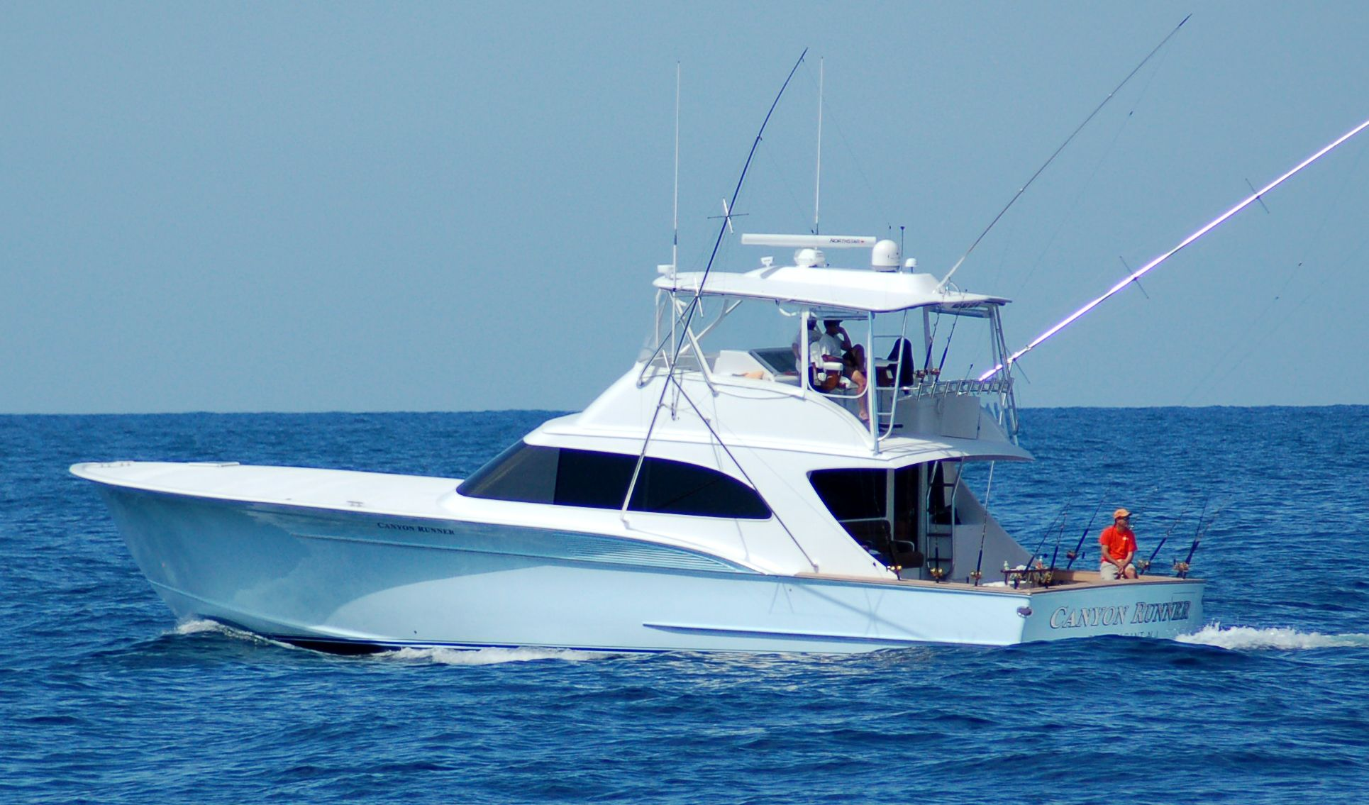 fishing in deeper water off the Florida shore. Sport